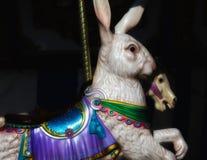 Веселый идут кролик и лошадь круга Стоковые Изображения RF