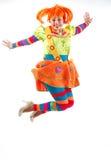 Веселый клоун скачет Стоковое фото RF
