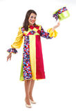 Веселый клоун с шляпой Стоковая Фотография