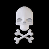 Веселый Роджер (знак перекрещенных костей) Стоковые Фотографии RF