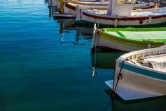 Весельные лодки в гавани Стоковое Изображение RF