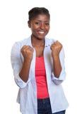 Веселя молодая африканская женщина Стоковые Изображения RF