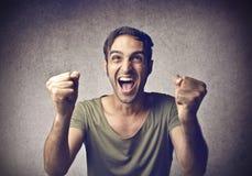 Веселя молодой человек Стоковая Фотография