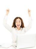Веселя успешная бизнес-леди Стоковые Фотографии RF