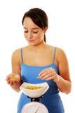 весить еды стоковое изображение