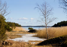 весна архипелага Стоковая Фотография