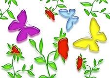 весна бабочек Стоковое Изображение RF