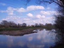 Весна в голландских форландах реки Стоковое фото RF
