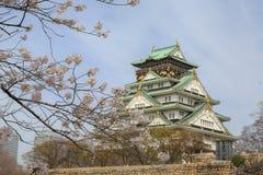 Весна в замке Осака стоковая фотография