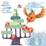 Весна в лесе Стоковое Изображение