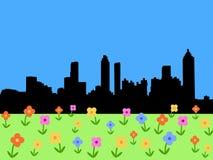 весна горизонта atlanta иллюстрация штока
