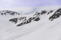 весна гор лавины прикарпатская стоковое фото rf