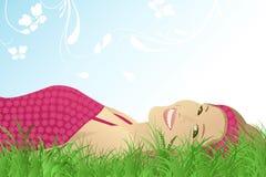весна девушки Стоковая Фотография