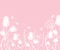 Весна и дизайн лета флористический с бабочками летания бесплатная иллюстрация