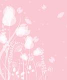 Весна и дизайн лета флористический с бабочками летания иллюстрация вектора