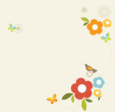 весна конструкции ретро Стоковое Изображение RF