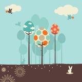 весна конструкции ретро Стоковая Фотография RF