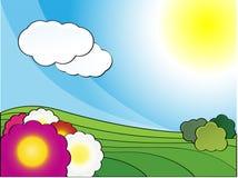 весна ландшафта дня Стоковые Изображения RF