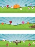 весна ландшафта знамен бесплатная иллюстрация