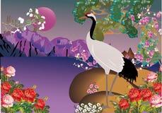 весна ландшафта крана Стоковое Изображение