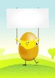 весна ландшафта пасхи цыпленка малюсенькая Стоковое Изображение RF