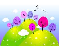 весна ландшафта сельской местности Стоковая Фотография RF
