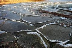 весна льда смещения детали Стоковая Фотография