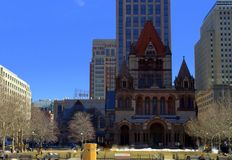 Весна начинает на площади квадрата Copley в Бостоне Стоковое Изображение RF