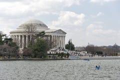 Весна на мемориале Jefferson в Вашингтоне Стоковая Фотография