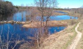 Весна на реке Линды, России Стоковое Изображение RF