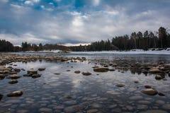 Весна на реке. Стоковое Фото