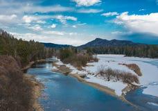 Весна на реке. Стоковая Фотография RF