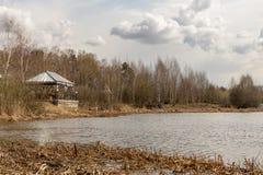 Весна на реке Стоковое Фото