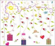 весна оригинала подарков предпосылки Стоковое Изображение