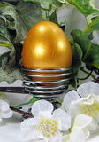 весна пасхального яйца украшения золотистая стоковое фото
