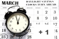 Весна переднее воскресенье сбережений дневного света на 1:00 a M Стоковые Фотографии RF