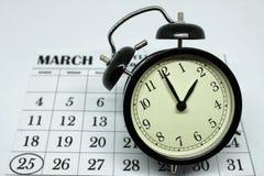Весна переднее воскресенье сбережений дневного света на 2:00 a M Стоковое Изображение RF