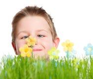весна портрета мальчика милая Стоковая Фотография