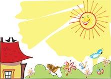 весна предпосылки ребяческая бесплатная иллюстрация