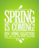 Весна приходя конструкция. иллюстрация вектора