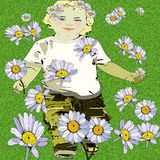 Весна приходя с партией маргариток бесплатная иллюстрация