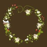 Весна птицы влюбленности венка цветка винтажная романтичная Стоковая Фотография
