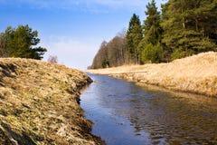 весна реки малая Стоковая Фотография