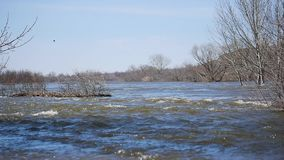 весна реки панорамы oka потока сток-видео