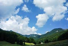 Весна Сцена ландшафта горы Cheia, румынские Карпаты Стоковое фото RF