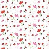 Весна с цветками Иллюстрация вектора
