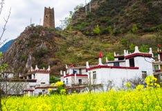 Весна тибетской деревни в Danba Стоковые Изображения