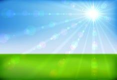 весна утра солнечная иллюстрация вектора