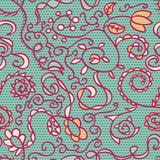 весна флористической кружевной картины безшовная Стоковые Изображения RF