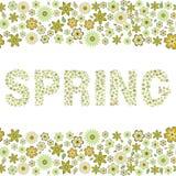 Весна, флористическая безшовная картина, Стоковые Изображения